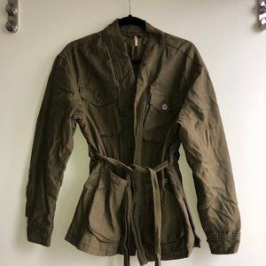 Free People Green Military Jacket